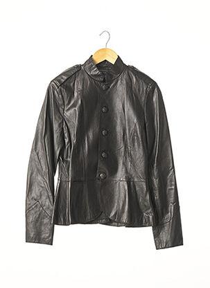 Veste en cuir noir RALPH LAUREN pour femme