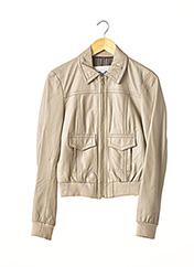 Veste en cuir beige DOLCE & GABBANA pour femme seconde vue