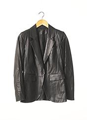 Veste en cuir noir PAULE KA pour femme seconde vue