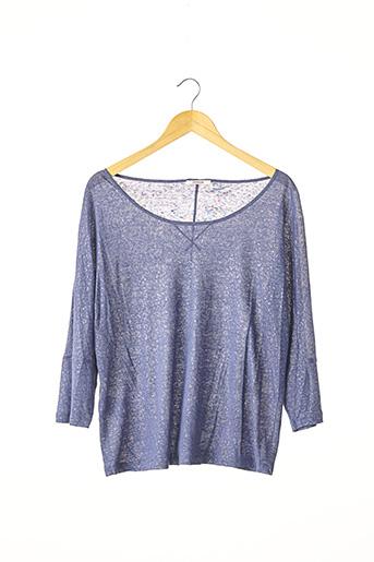 T-shirt manches longues bleu DEVERNOIS pour femme