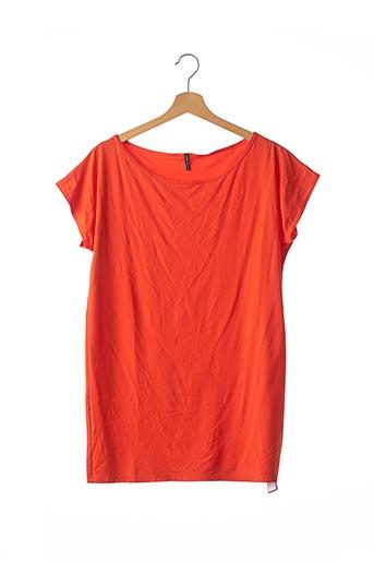 T-shirt manches courtes orange CARIOCACOLLECTION pour femme