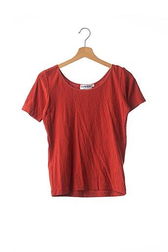 T-shirt manches courtes orange ENTRACTE pour femme