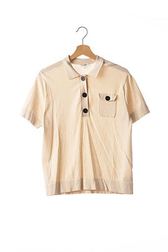 Polo manches courtes beige ERIC BOMPARD pour femme