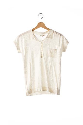 Polo manches courtes blanc BONPOINT pour femme
