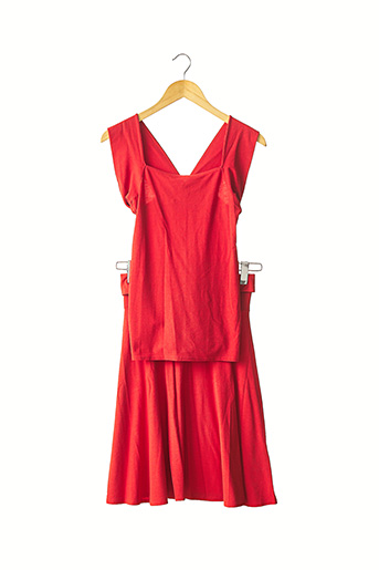 Top/jupe orange IRENA GREGORI pour femme