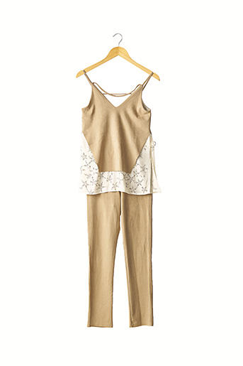 Top/pantalon beige POUPETTE ST BARTH pour femme