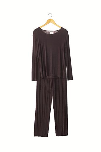 Top/pantalon violet ISSEY MIYAKE pour femme