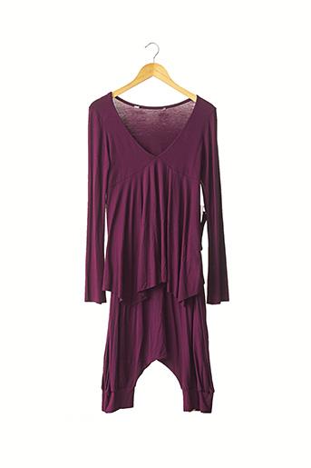 Top/pantalon violet SANS MARQUE pour femme