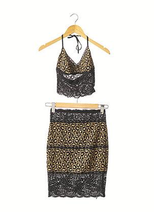 Top/jupe noir SAGAIE pour femme