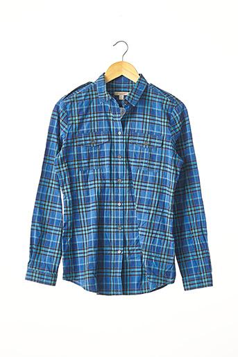 Chemise manches longues bleu BURBERRY pour homme