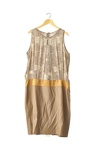 Robe mi-longue marron DEVERNOIS pour femme