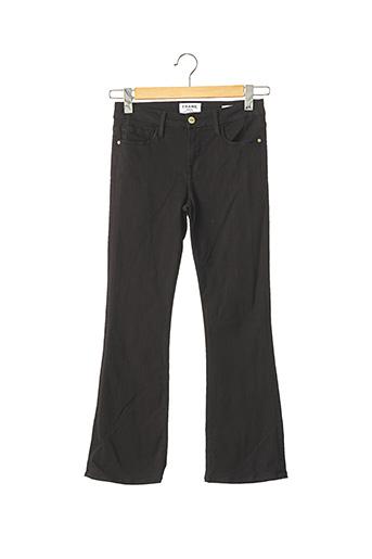 Pantalon 7/8 noir FRAME pour femme