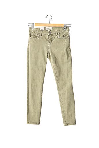 Pantalon 7/8 vert CURRENTE/ELLIOTT pour femme