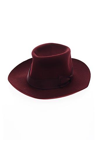 Chapeau rouge BORSALINO pour femme