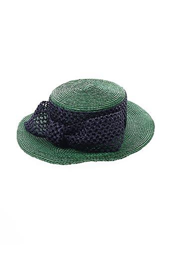 Chapeau vert CAMILLE VINCI pour femme