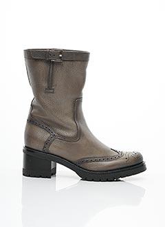 Bottines/Boots gris SANTONI pour femme