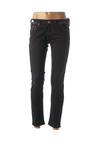 Jeans skinny noir REPLAY pour femme