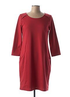 Robe mi-longue rouge CHATELET pour femme