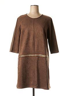 Robe mi-longue marron HALOGENE pour femme