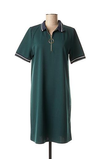 Robe mi-longue vert BY MEG pour femme