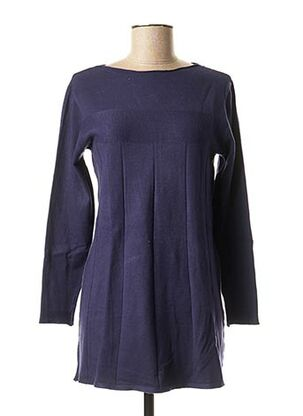 Pull tunique bleu BLUOLTRE pour femme