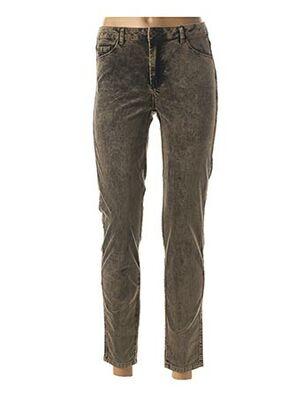 Pantalon 7/8 beige EVA KAYAN pour femme