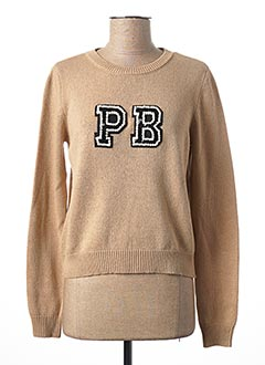Pull col rond beige PENNYBLACK pour femme