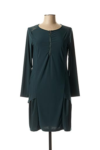 Robe mi-longue vert MALOKA pour femme