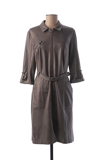 Robe mi-longue gris EVA KAYAN pour femme