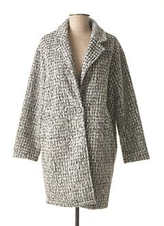 Manteau long gris IMUA pour femme