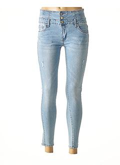Jeans skinny bleu D.CHERRI pour femme