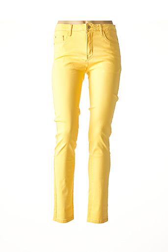 Pantalon casual jaune IMUA pour femme