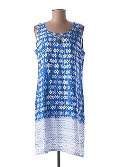 Robe mi-longue bleu SENORETTA pour femme