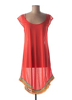 Robe mi-longue rouge ANTIGEL pour femme