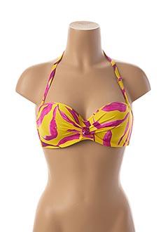 Haut de maillot de bain jaune ANTIGEL pour femme