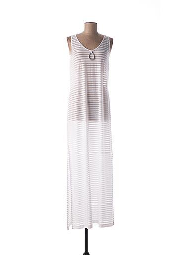Robe longue blanc EGATEX pour femme