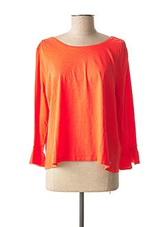 T-shirt manches longues rouge DES PETITS HAUTS pour femme