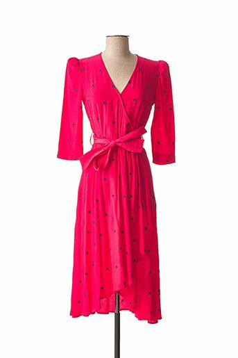Robe mi-longue rouge IDANO pour femme