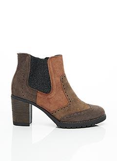 Bottines/Boots marron GEO-REINO pour femme