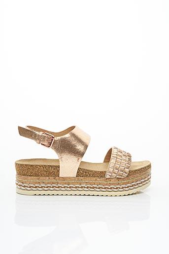 Sandales/Nu pieds rose BULLBOXER pour femme