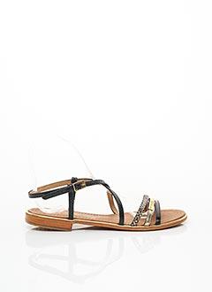 Sandales/Nu pieds noir LES TROPEZIENNES PAR M.BELARBI pour femme