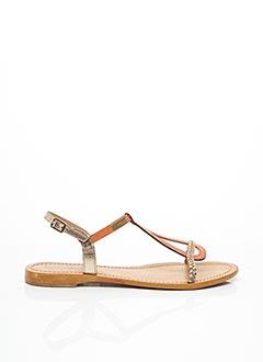 Sandales/Nu pieds orange LES TROPEZIENNES PAR M.BELARBI pour femme