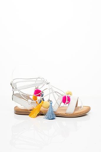 Sandales/Nu pieds blanc GIOSEPPO KIDS pour fille