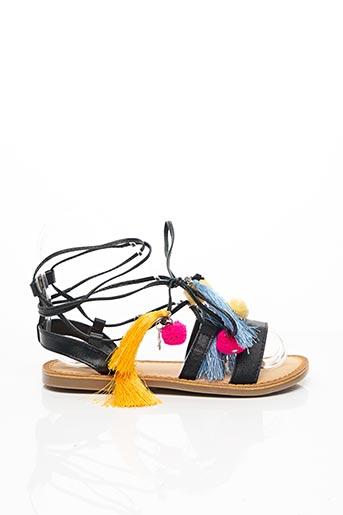 Sandales/Nu pieds noir GIOSEPPO KIDS pour fille