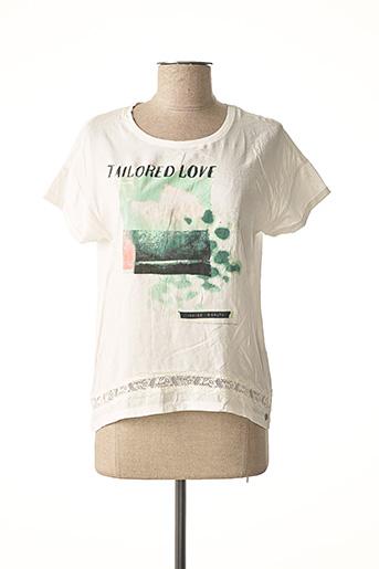 T-shirt manches courtes blanc GARCIA pour fille