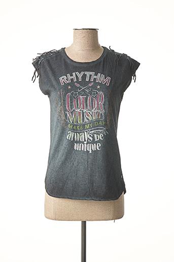 T-shirt manches courtes noir GARCIA pour fille