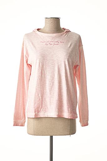 T-shirt manches longues rose PEPE JEANS pour fille