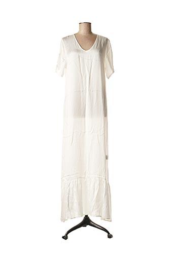 Robe longue blanc LA FEE MARABOUTEE pour femme