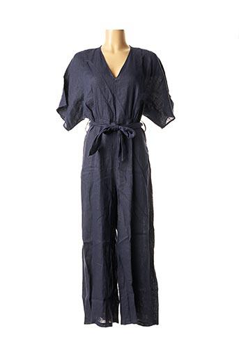 Combi-pantalon bleu LA FEE MARABOUTEE pour femme