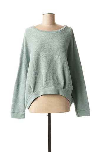 Sweat-shirt vert LA FEE MARABOUTEE pour femme